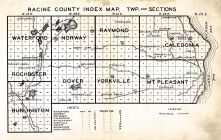 Racine County Index Map, Racine County 192x